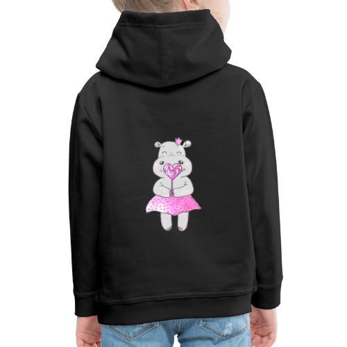 Happy Hippo - Kinder Premium Hoodie