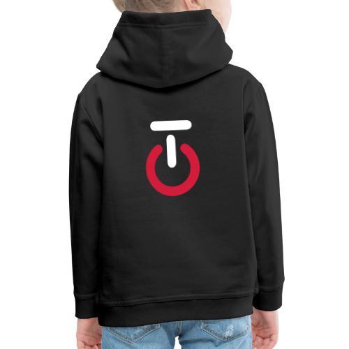 Logo lille v5 - Premium hættetrøje til børn