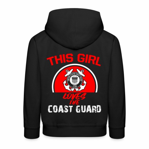 This Girl Loves The Coast Guard - Kinder Premium Hoodie