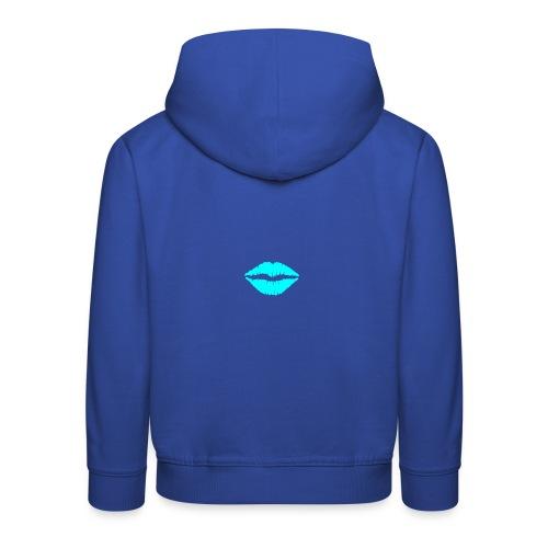 Blue kiss - Kids' Premium Hoodie