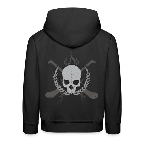 skullgreyblack - Kids' Premium Hoodie