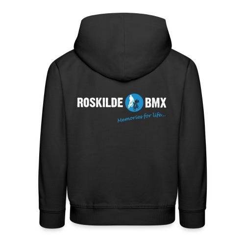 RoskildeBMX Back Large light png - Premium hættetrøje til børn