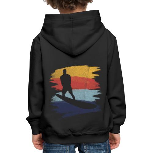 Wellenreiten Retro-Stil, Vintage - Kinder Premium Hoodie