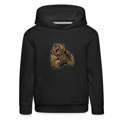 méchant grizzli - Pull à capuche Premium Enfant