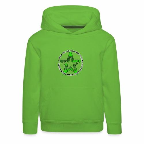 ra star slogan slime png - Kinder Premium Hoodie