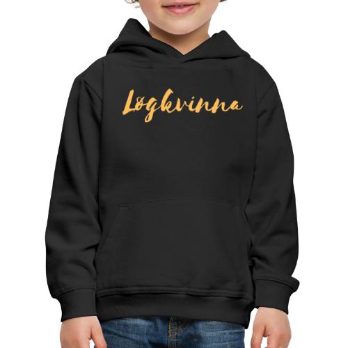 Løgkvinna - Premium hættetrøje til børn