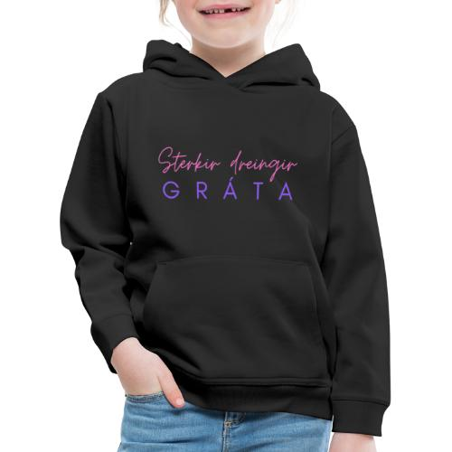 Sterkir dreingir gráta - Premium hættetrøje til børn