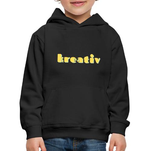 kreativ - Premium hættetrøje til børn