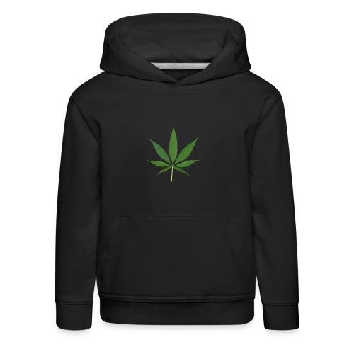 2000px-Cannabis_leaf_2 - Premium hættetrøje til børn