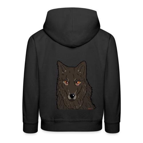HikingMantis Wolf png - Premium hættetrøje til børn