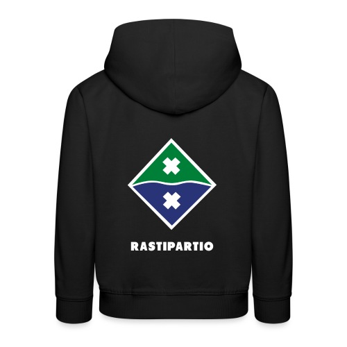 Rapalogo valkoisella - Lasten premium huppari