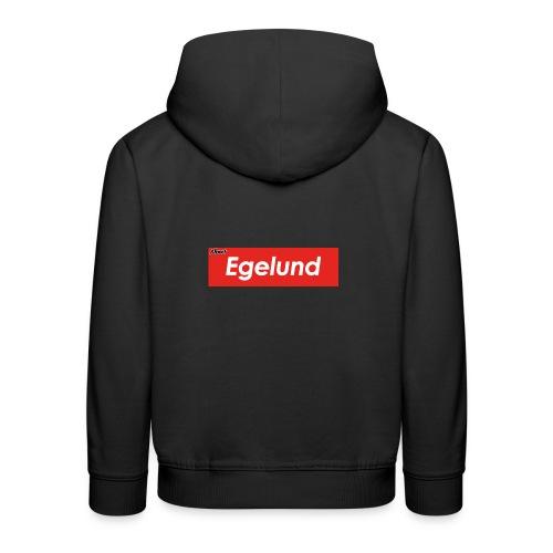 Albert Egelund Box Logo - Premium hættetrøje til børn