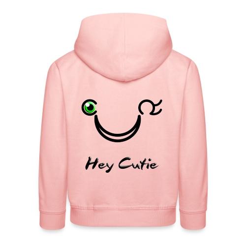 Hey Cutie Green Eye Wink - Kids' Premium Hoodie