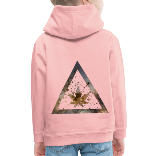 Galaxy Weed Marijuana Triangle with Splashes - Kinder Premium Hoodie
