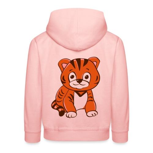 Bébé tigre orange et noir - Pull à capuche Premium Enfant