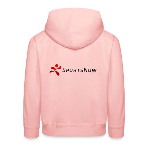 SportsNow-Logo mit schwarzer Schrift - Kinder Premium Hoodie