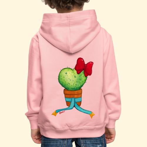 Cactus Coeur - Pull à capuche Premium Enfant