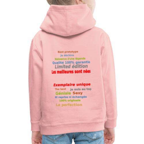 t shirt les meilleures sont nées sweat shirt mugs - Pull à capuche Premium Enfant