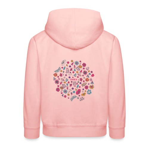 isha flowers circle - Kinder Premium Hoodie