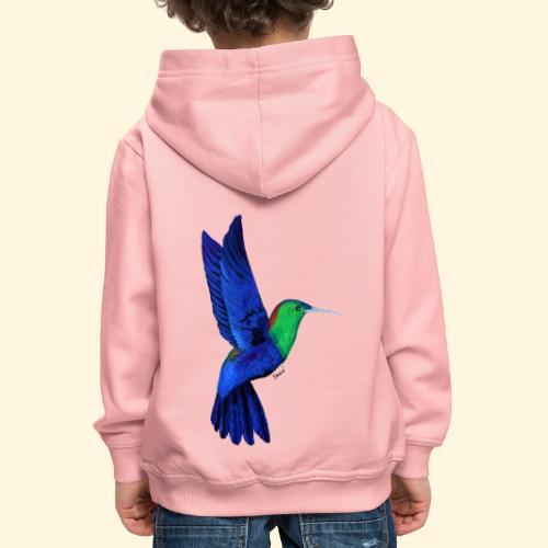 Colibri bleu et vert - Pull à capuche Premium Enfant