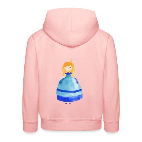 Cute princess watercolor - Kids' Premium Hoodie