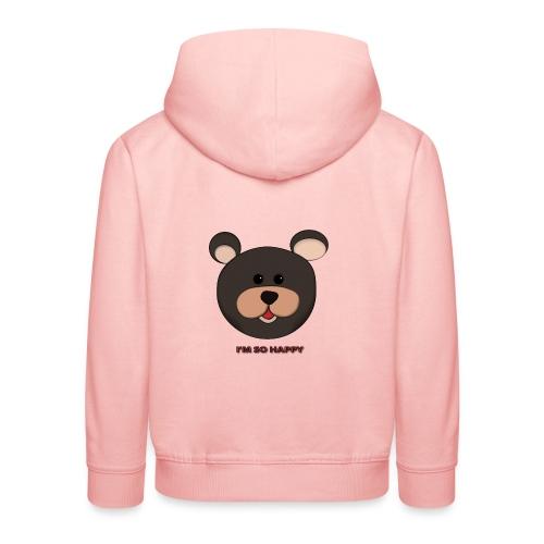 Osito feliz - Sudadera con capucha premium niño