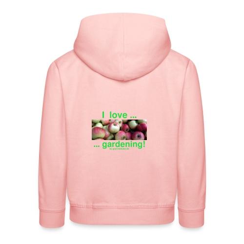 Äpfel - I love gardening! - Kinder Premium Hoodie