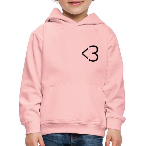 <3 - Premium hættetrøje til børn