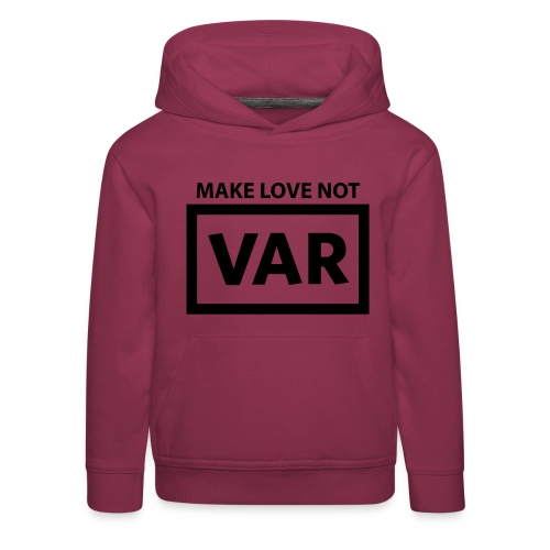 Make Love Not Var - Kinderen trui Premium met capuchon