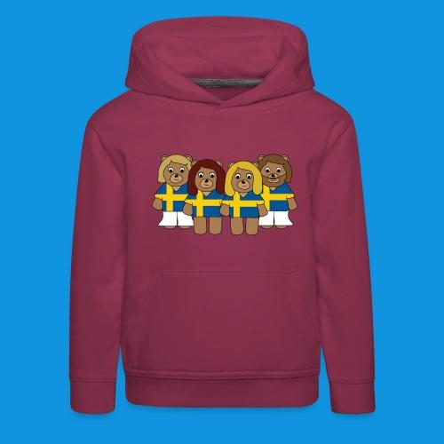 Abba Sweden Bears.png - Kids' Premium Hoodie
