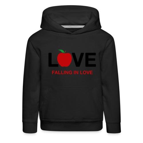 Falling in Love - Black - Kids' Premium Hoodie