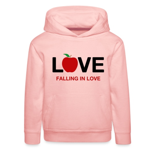 Falling in Love - Black - Kids' Premium Hoodie