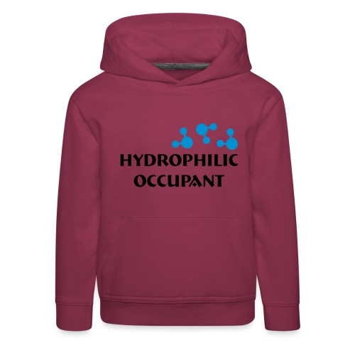 Hydrophilic Occupant (2 colour vector graphic) - Kids' Premium Hoodie
