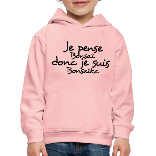 je_pense_donc_je_suis - Pull à capuche Premium Enfant