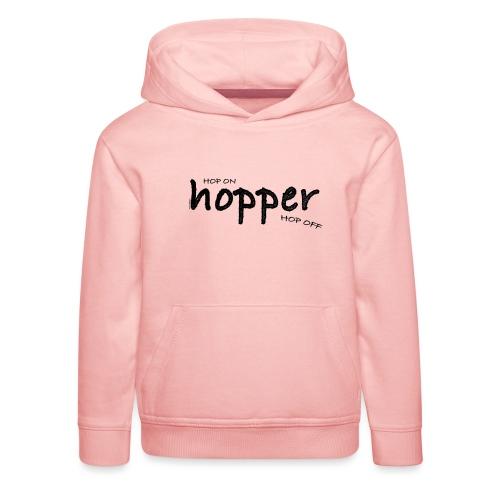 MuchoHop Hop On/Off (black) - Sudadera con capucha premium niño