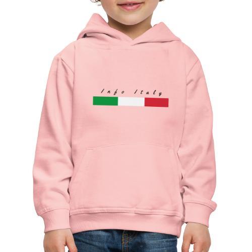 Info Italy Design - Felpa con cappuccio Premium per bambini