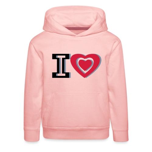 I LOVE I HEART - Kids' Premium Hoodie