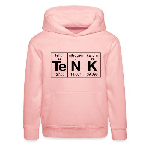 Te N K periodisk - Premium Barne-hettegenser