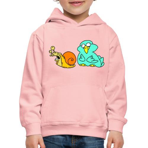 Schnecke und Vogel Nr 3 von dodocomics - Kinder Premium Hoodie