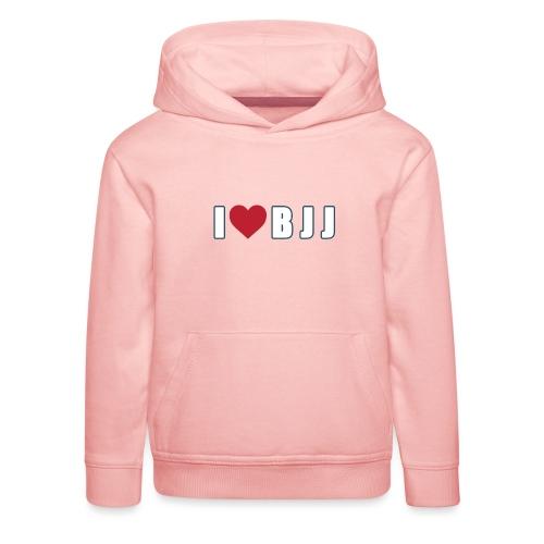 i love bjj - Bluza dziecięca z kapturem Premium