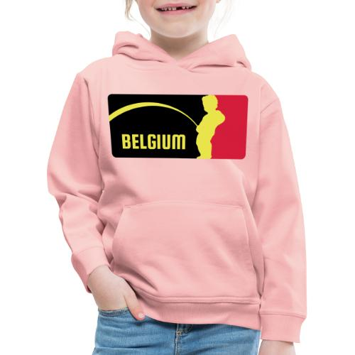 Mannekke Pis, Belgium Rode duivels - Belgium - Bel - Pull à capuche Premium Enfant
