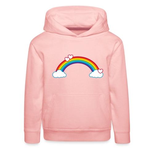 Regenbogen Sonne Herz Rainbow Cloud Heart - Kids' Premium Hoodie