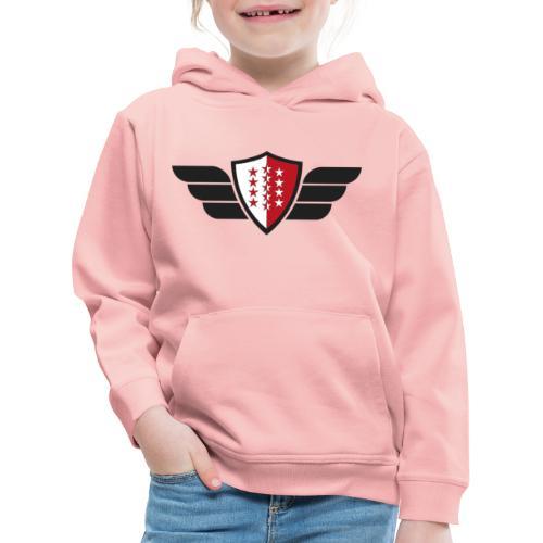 Flying Valais - Walliser Flagge mit Flügeln - Kinder Premium Hoodie