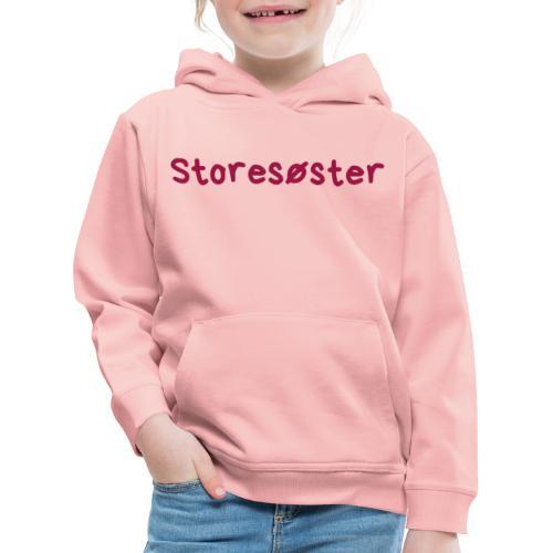Storesøster - Premium Barne-hettegenser