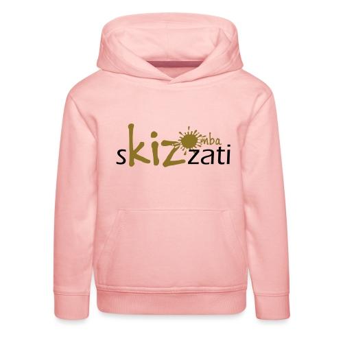 Beanie in jersey con logo sKizzati Kizomba - Verde - Felpa con cappuccio Premium per bambini