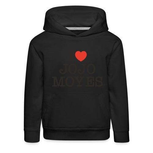 I LOVE JOJO MOYES - Premium hættetrøje til børn