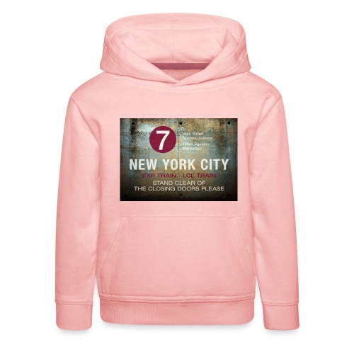NYC subway stand clear of the closing doors please - Kids' Premium Hoodie