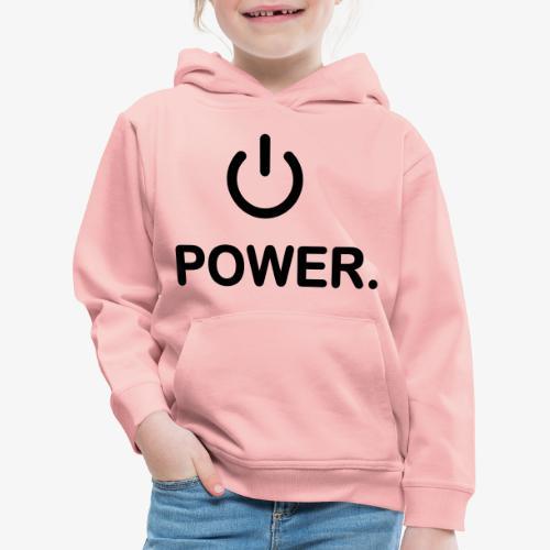 power - Pull à capuche Premium Enfant