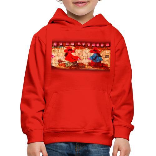 Dos Paisanitas tejiendo telar inca - Kids' Premium Hoodie