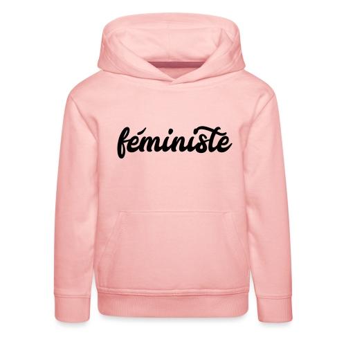 féministe - Pull à capuche Premium Enfant